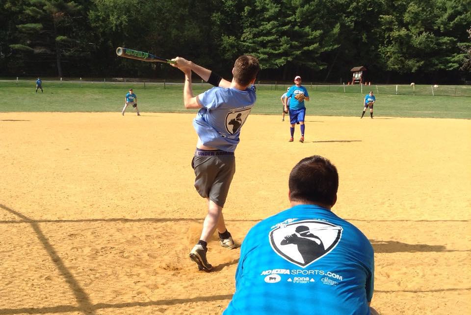No Idea Sports - Adults Playing Softball