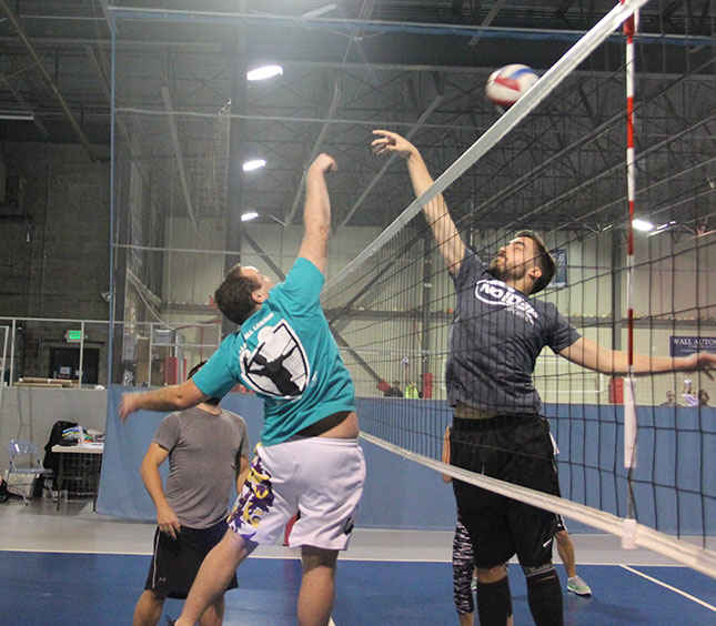 No Idea Sports - Adults Playing Volleyball